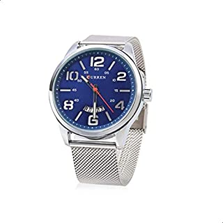 Curren Men's Blue Dile Stainless Steel Watch 8236