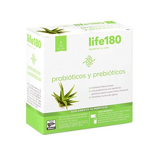 LIFE180 Probióticos y Prebióticos, 21 sobres de 3gr c/u, 63 gr