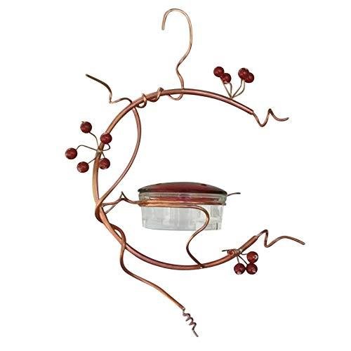 FENGCHUANG Röda Bär Hummingbird Matare Koppar Spola Vatten Matare Utomhus Trädgård Hängande Kolibrig Matare Trädgårdsförråd Metall Dekorativa Matningar