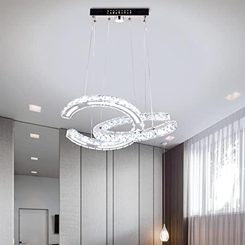 Candelabro moderno Iluminación Techo Dormitorio de niñas Candelabros de cristal Accesorios de iluminación LED agregar acrílico 2 C Modelo Anillo Luces colgantes