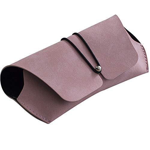 Umoraサングラスケース メガネケース シンプル ソフトレザー 高級感(ピンク)