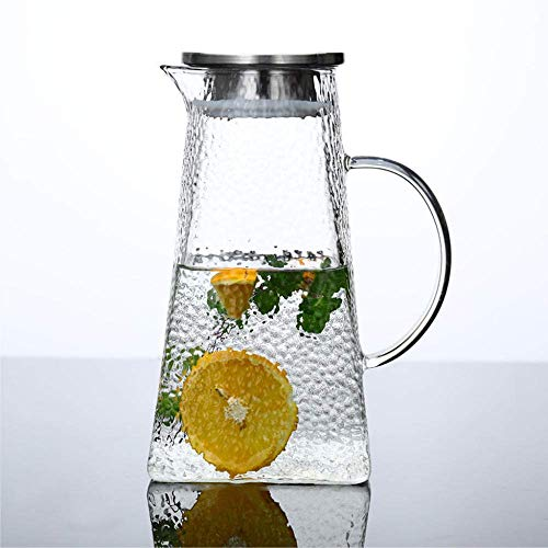 Zixin Cold Kettle 1.8L Glass Kettle Household Jug Kettle Bubble Tea Juice Thickening High Tempature Resistance Opening Bevage Bottle Gift-300Ml Cup (Size : 1500ML single kettle)