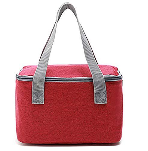 Thermique pour le déjeuner Pack de glace sacs de stockage de pique-niquer isolation sacs alimentaires,Red