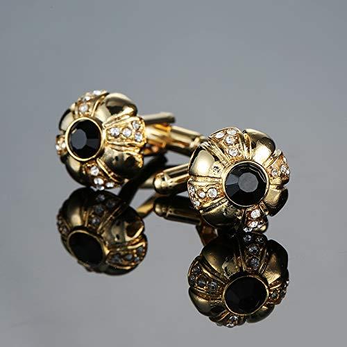 XKSWZD Männer Geschenk Schutzhelm Manschettenknöpfe Hut Design goldene Farbe Kupfer Manschettenknöpfe