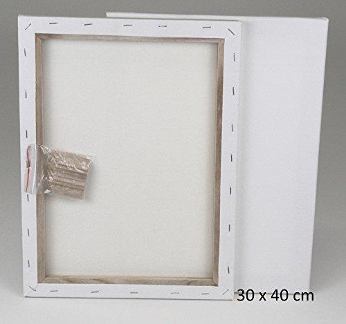 Meister 20 Stk. Keilrahmen Größe 30 x 40cm, sofort malfertig, hochwertige 320g/m² Baumwolle  - TOP - Sparset