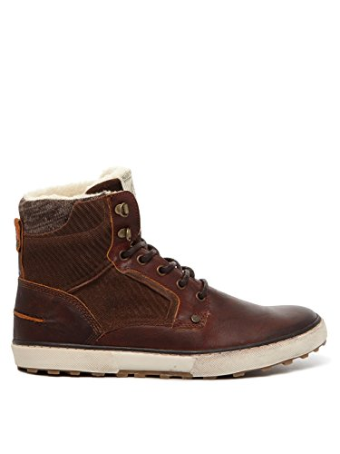 Bullboxer schoenen heren laarzen 628 K5 6088A donkerbruin donkerbruin donkerbruin bruin bruin heren
