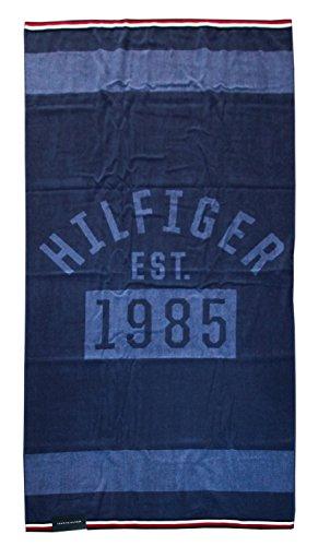 Tommy Hilfiger Toalla Playa o Piscina 100% Esponja Disponible de Puro algodón cm 90x 180 Denim - Blue