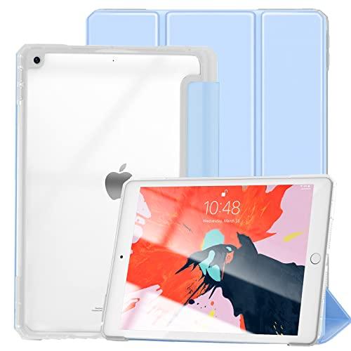 Gahwa Funda para iPad 10,2 Pulgadas 9 Generación 2021/8 Generación 2020 /iPad 7 Generación 2019, Case Carcasa Ligera Tríptica Smart Cover con Auto Sueño Estela - Azul