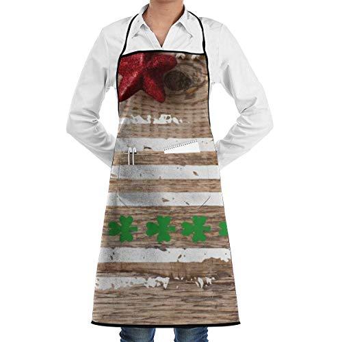 jingqi Delantales de Babero Colgante de calcetín de Navidad Delantal de Cocina Comercial y para el hogar para Hombres Mujeres Servidores de Chef Camarero