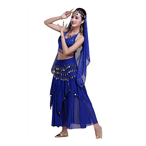 FFKL 2 Stks/set Buik Dans Jurk Professionele Oosterse Bellydance Kostuum Set Plus Size Kostuums Te Koop Dames Indian Sari Voor Vrouwen Dansen, Tops + Rok