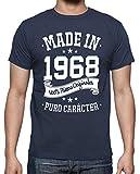 latostadora - Camiseta Made In 1968 para Hombre Denim 3XL