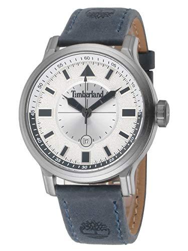 Timberland Herren Analog Quarz Uhr mit Leder-Kalbsleder Armband TBL16006JYU.04