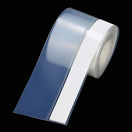 PYouo-Tira de sellado 1M Transparente Baño Ducha Puerta Puerta Sello Sello Sello WeatherStrip Caucho 1Mx45mm / 25 mm Strips de sellado, Sellado eficiente ( Color : Transparent , Width : 1m x 4.5cm )