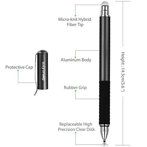 Dimples Excel Stift Stylus Eingabestift Pen Pencil Touchstift Kompatibel Für Apple iPad Pro Mini Air Tablets Touchscreen iPhone Surface Präzision Kapazitive Laptop Tablet Disc Tipund Spitze