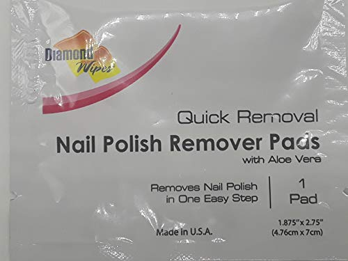 Nail Polish Remover Pads, Individually Sealed Packets, Pre-Soaked Extra Thick Removal pads, Ideal for Makeup Home Travel Cosmetics (Pack of 60)