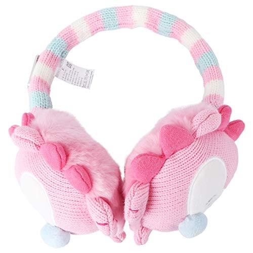 SOIMISS Kinder Mädchen Einhorn Horn Fleece Ohrenschützer Ohrwärmer Verstellbare Winter Ohrenschützer für Kinder 5 Jahre-Frauen Rosa