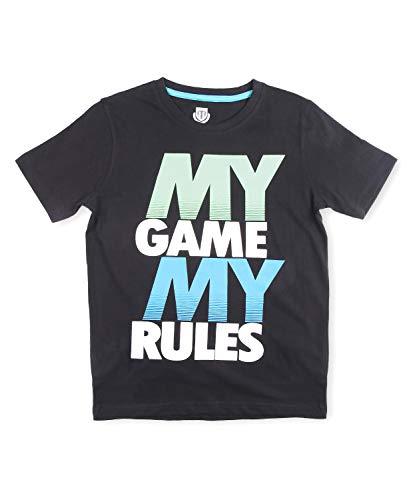 Sach by FBB Typography Print T-Shirt Black