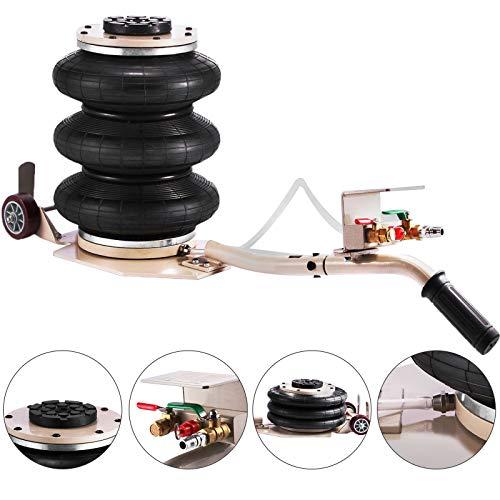 VEVOR Cric pneumatique de 3 Tonnes avec Hauteur de Levage d'un élévateur Pneumatique de 40 cm avec 3 Bagues de Pression d'air pour Levier Voiture