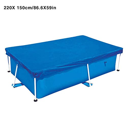 Ridecle Frame Pool Cover - 220 x 150cm Rectangular Swimming Pool Cover, Pool Tarpaulin Rain Cover Dust Protection Cover