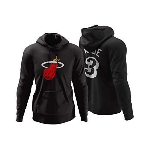ZSPSHOP Sudadera con capucha de baloncesto de la NBA, Miami Heat Chris Bosh, sudadera con capucha para hombre, manga larga, informal, n.º 1 n.º 3 (color: negro 3, tamaño: mediano)