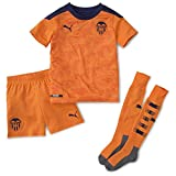 PUMA Valencia CF Temporada 2020/21-Away Minikit Vibrant Orange-Peacoat Camiseta Segunda Equipación, Niño, Naranja, 110