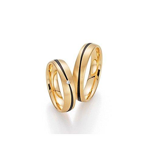 Trauringe Eheringe Verlobungsringe Gold Carbon BRILLANT TOP DESIGN