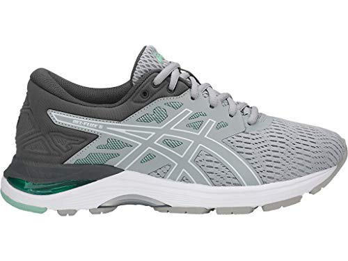 Price comparison product image ASICS Women's Gel-Flux 5 Running Shoes,  10W,  MID Grey / White / Opal Green