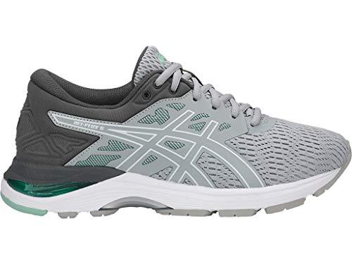 Asics Frauen Gel-Flux 5 (D) Schuhe, 42 C/D EU, Mid Grey/White/Opal Green