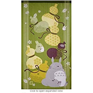 Totoro Good Luck Gourd Noren Curtain 33.5×59.1 Inches
