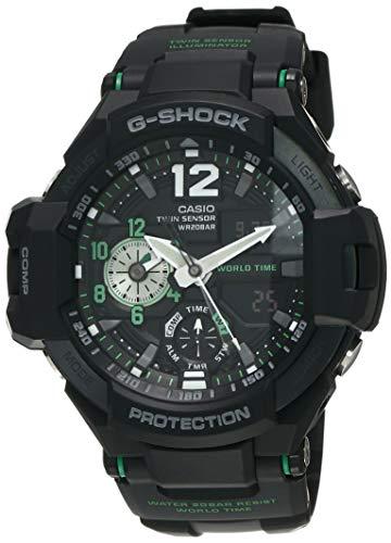 Casio G-Shock Analog-Digital Black Dial Men's Watch-GA-1100-1A3DR (G595)