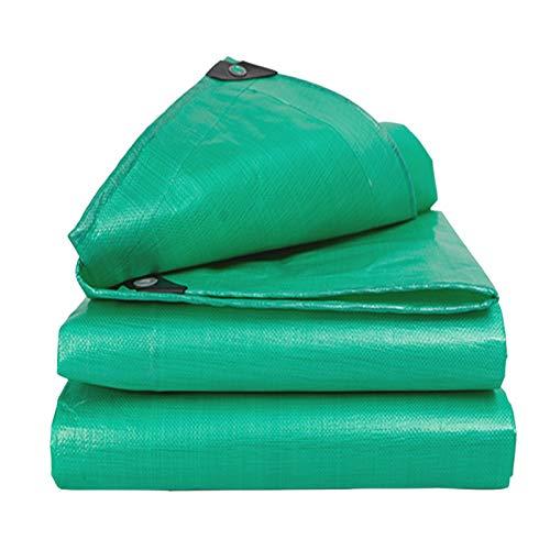 Lona Espesa De 180G / M² Resistente, Lona Impermeable De Doble Cara con Ojales para Tienda De Campaña Al Aire Libre Cubierta De Coche Verde(Size:5×7M)