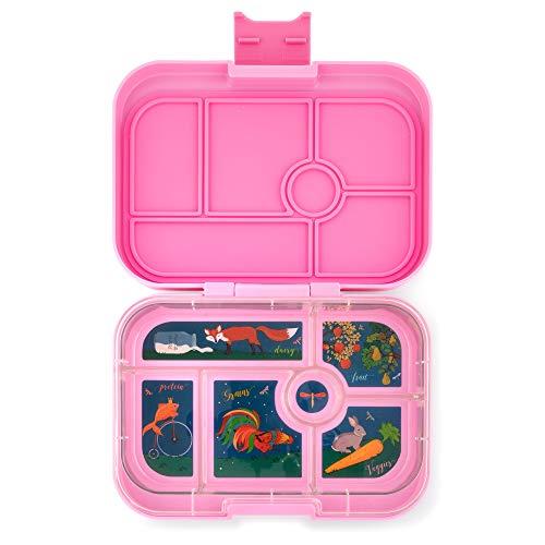 Yumbox Original M Lunchbox (Stardust Pink, 6 Fächer) - mittelgroß | Brotdose mit Trennwand Einsatz | Bento Box für Kindergarten Kinder, Schule