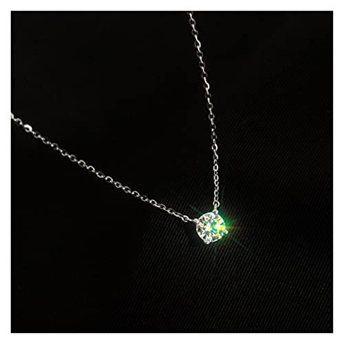 zxb-shop Collares 925 STERLINAL Silla O-Cadena Colgante Colgante 0.3 cm / 0.4 cm / 0.5cm Collares Collares Brillantes Cadena Mujeres Joyería de Boda Regalos cumpleaños para Esposa, Madre