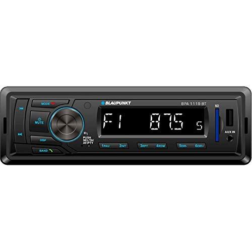 Blaupunkt BPA1119BT Autoradio 1 DIN, Bluetooth, USB, Schwarz