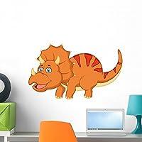 Wallmonkeys Cute Dinosaur Cartoon Wall Decal Peel and Stick Graphic WM128548 (24 in W x 14 in H) [並行輸入品]
