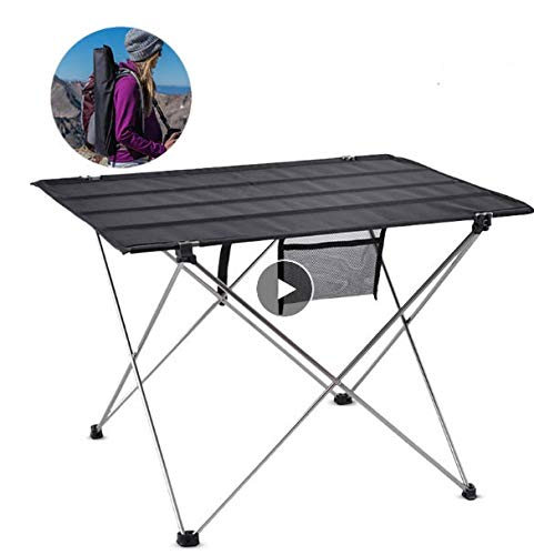 ZOUJUN Tabla de camping, mesas de ping Asamblea portátil plegable de picnic al aire libre muebles de pesca de escritorio ligera Ultra acampar Equipo plegable for comer, cortar, cocinar, comida campest