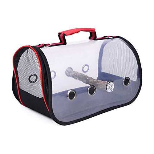 TCBH Vogel-Transporttasche für Vögel, leicht, PVC, transparent, atmungsaktiv, mit Holzstab