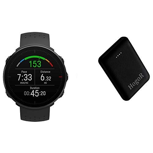 Polar Vantage V Premium GPS Multisport Heart Monitor Wrist Watch for Multisport & Triathlon Training Smart Bracelet Bundled with10000mAh Power Bank, Intelligent Dual USB