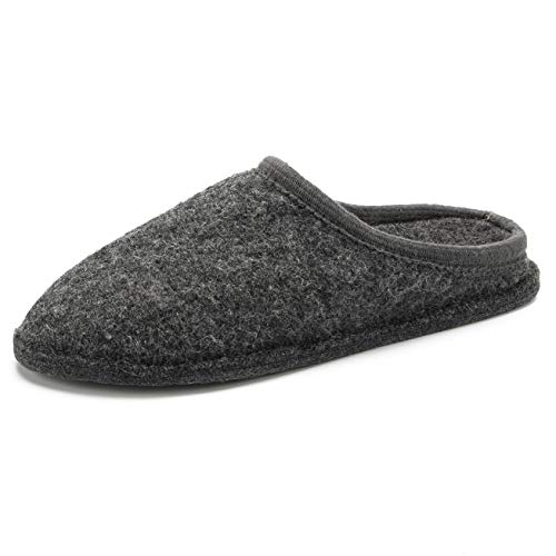 LE KAPMOZ Men's Boiled Wool House Slippers Breathable Winter Warm Slip on Mules Indoor/Outdoor...