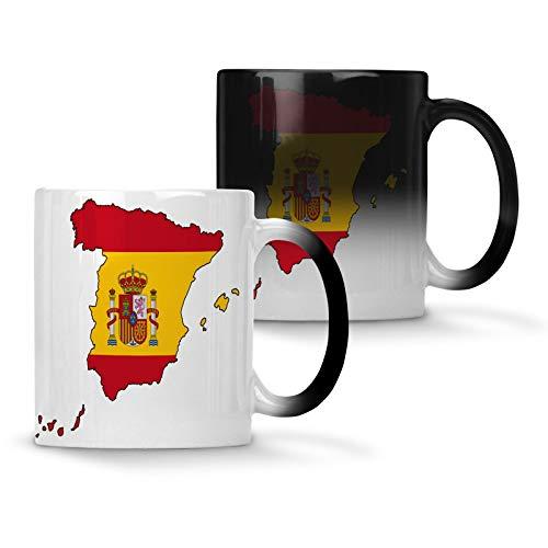 Spanje-wereldkaart-kunst-kleurveranderende beker 11oz