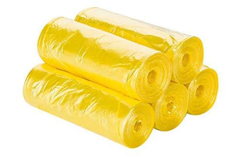 FHFF Bolsa de Basura Bolsa De Basura De Color para El Hogar, Bolsa De Basura Doméstica, Bolsa De Plástico Desechable para Protección del Medio Ambiente.150 Amarillo