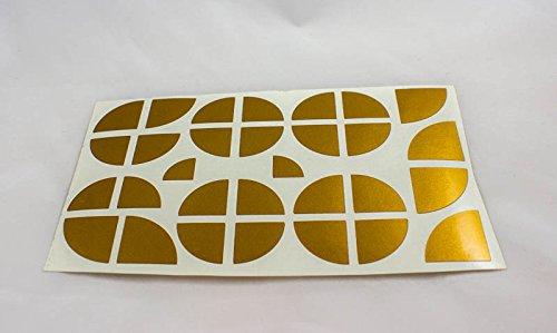 lowgo-shop Emblema adhesivo para BMW en muchos colores, 30 piezas para todos los emblemas de coche o moto – Accesorios (dorado)
