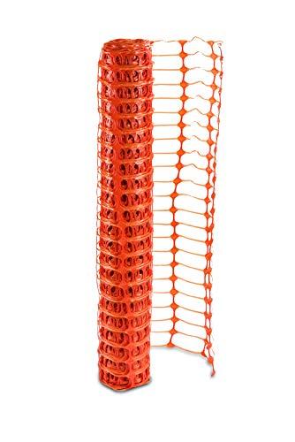 UvV Fangzaun, Absperrnetz, Maschenzaun, Bauzaun auf Rolle Kunststoff Meterware (Zuschnitt), extrem Reissfest, 150 gr qm (10)