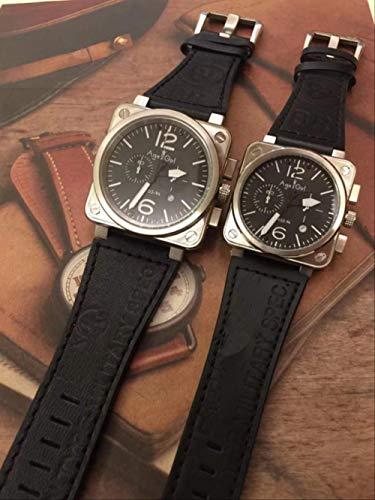 Klassische Armbanduhr Herren Damenuhr Chronograph Stoppuhr Saphir Edelstahl Silber Leuchtend Schwarz Leder Gelb SportDamen 40mm