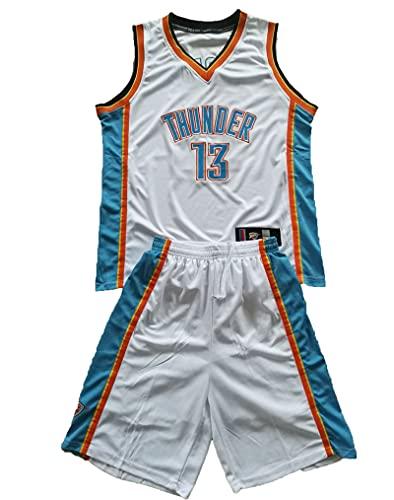 YXST Camiseta De Baloncesto NBA # 3# 13 Chaleco Deportivo + Pantalones Cortos Conjunto De Dos Piezas Transpirable Resistente Al Desgaste RéPlica De Jugador De Baloncesto,1,XL