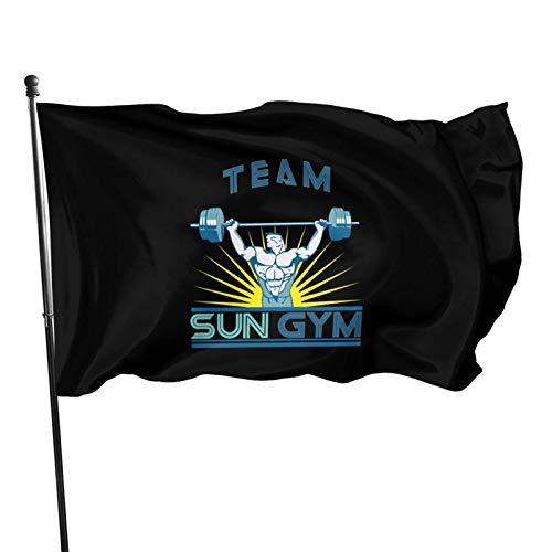 DJNGN Equipo Sun Gym Racerback Tank Top Patio Bandera Terraza Césped Jardín Maceta Balcón Decoración al Aire Libre Bandera