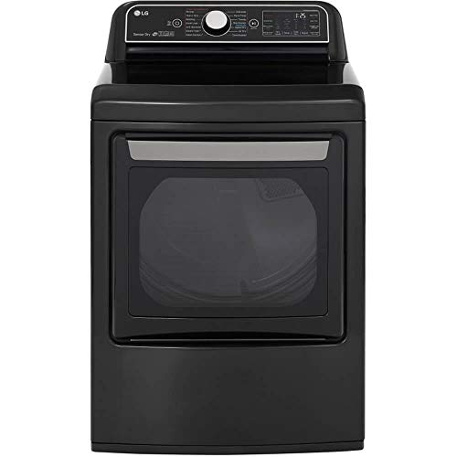 LG DLEX7900BE 7.3 cu.ft. Smart wi-fi Enabled Electric Dryer with TurboSteam - Black Steel