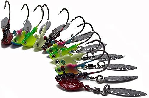 16pcs Colorful Shaky Head Jig Stals Up Jigheads con Lama Kit nella Pesca della Vista dell Acqua limpida in weedless (Style : 3.5g)