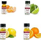 LorAnn SS 4 pack Citrus Flavor Mix ( tangerine Oil, Lime Oil, Lemon Oil. Orange Oil) - 1 dram bottle (.0125 fl oz - 3.7ml) Bottles