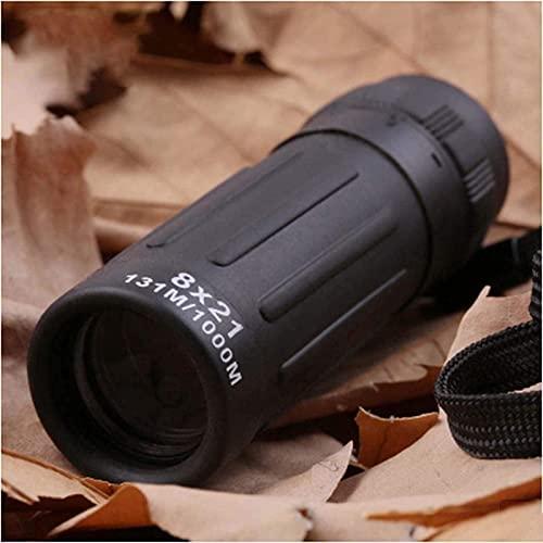 Binoculares para Adultos, práctico telescopio monocular HD, telescopio monocular con Zoom, monocular para observación de Aves, Camping, Senderismo, al Aire Libre 8X21